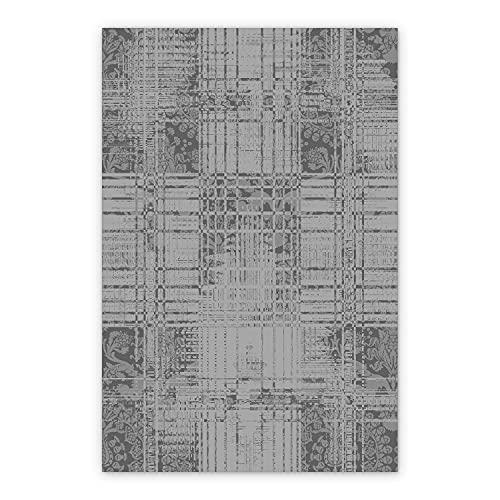 BirdsEcho Tapis en Vinyle PVC de Bain Couverture 150x198cm de Cuisine Tapis en LinoléumDe Salle à Manger - Tissu en béton Gris