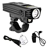 Nitecore BR35 1800 Lumen Dual Beam OLED Display Rechargeable Bicycle Headlight with Remote Switch, Mount - Includes Lumen Tactical Adapter
