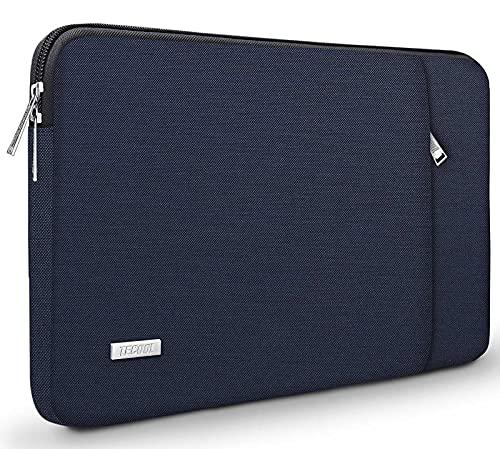 TECOOL Funda Portátil de 14 Pulgadas, Bolso Protectora Acolchada Funda Blanda para 14'' Lenovo HP Acer ASUS DELL Ordenador Tablets y MacBook Pro 15 (2016-2019), 15'' Surface Laptop 3, Azul Oscuro