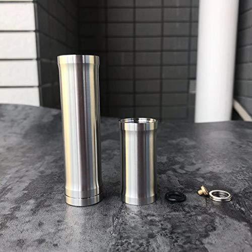 YFTK VW Style 316 stainless steel vape tube mod 18350/18650 Mech mod for 510 thread diameter 22mm RTA tank RDA atomizer