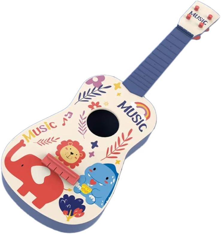 NUOBESTY Niños Ukelele Guitarra Pequeña 4 Cuerdas Instrumento Musical Juguetes Educativos de Aprendizaje Cumpleaños 2020 Regalo de Fiesta de Año Nuevo para Niños Estudiantes Principiantes 60 Cm (Azul)