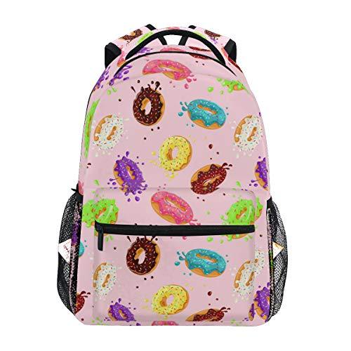 BKEOY Rucksäcke Bunte Donut-Schultasche für Reisen Wandern Camping Daypack