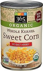 365 Everyday Value, Organic Whole Kernel Corn, No Salt Added, 15.25 oz