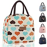 Buringer Reusable Insulated Lunch Bag Cooler Tote Box with Front Pocket Zipper Closure for Woman Man...