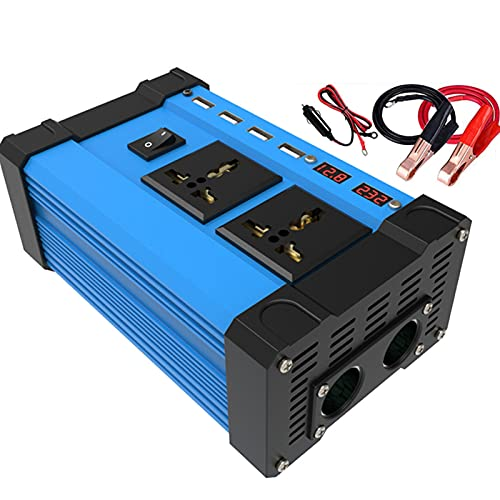 SDDDS Inversor, 12V a 220V 4000W Pico, inversor de Onda sinusoidal Modificado, convertidor de Potencia inversor de automóvil con Enchufe de Encendedor de Cigarrillos