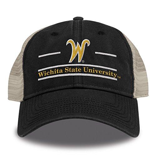 The Game Split Bar Design Trucker Mesh Hat, Black, Adjustable, Wichita State Shockers