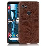 Cellshell Bright PU Leather Hard Back Case Cover for Google Pixel 2 XL - Brown