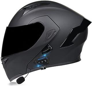 Casco de Moto Modular Bluetooth Integrado con un Micrófono Incorporado Anti Niebla Visera Doble ECE/Dot Homologado Adultos...