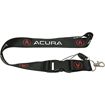 Acura MDX Black Leather Key Chain Automotive Gold KC1540.MDX INC Au-Tomotive Gold