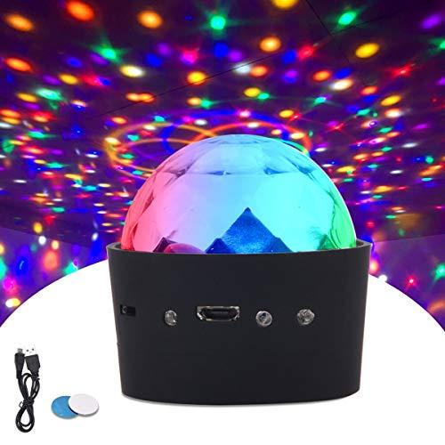 ROVLAK Discokugel Mini Disco LED Lichteffekte 3W Tragbarer Mini-Sound Aktivierte USB-geladene Beleuchtung 3 Farben RGB LED-Strobe-Effekt Nachtlichter Fit für Bar Auto KTV Kinder Geburtstag Party