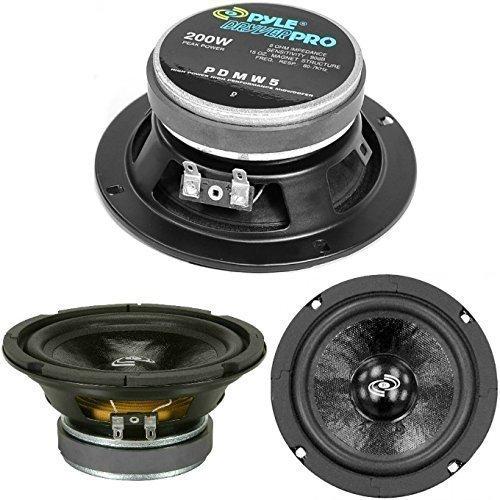 1 MIDWOOFER PYLE PDMW5 altoparlante diffusore di diametro da 13,00 cm 130 mm 5  da 100 watt rms 200 watt max impedenza 8 ohm per casa party, 1 pezzo