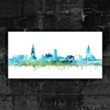 Kunstbruder ULM Skyline - Blau (div. Größen) - Kunst