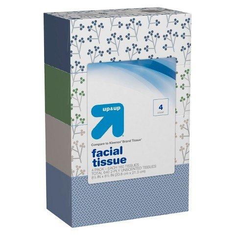 Facial Tissues - 4pk/144ct - up & up™