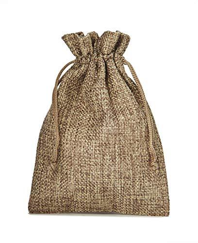 10 Sacchetti di stoffa in stile iuta, misura 30x20 cm, sacchetti regalo, sacchetti per calendario dell' avvento (natura)