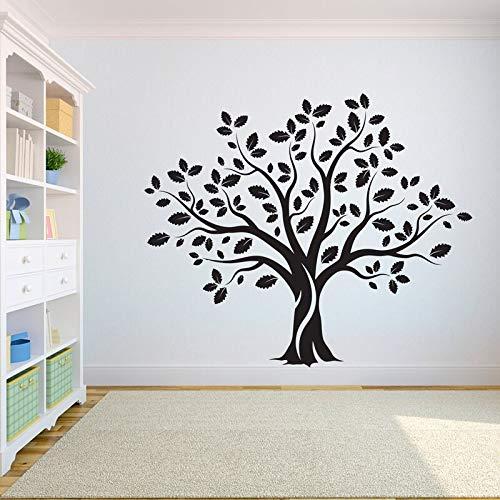 Tatuajes de pared de árbol vida del dormitorio raíces de árboles pájaros volar lejos decoración del hogar pegatinas de pared de árbol grande A7 50X42CM