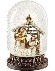 WeRChristmas - Bola de Nieve Decorativa (16 cm), diseño de Escena navideña, Multicolor