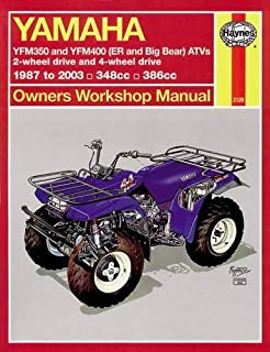Yamaha ATVs Timberwolf, Bruin, Bear Tracker, 350ER and Big Bear 1987 - 2009 (Haynes Service & Repair Manual)