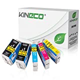 5 Kineco Tintenpatronen kompatibel mit Epson 34XL T3471-T3474 für Epson Workforce Pro WF-3720DW WF-3720DWF WF-3725DWF