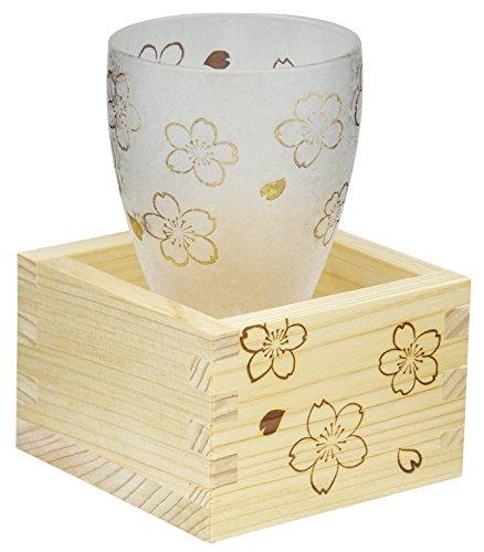 アデリア 日本酒 グラス 枡付き 100ml 桜 プレミアムニッポンテイスト 日本製 6603