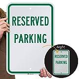 SmartSign-K-1903-EG 'Reserved Parking' Sign   12' x 18' 3M Engineer Grade Reflective Aluminum - Green on White