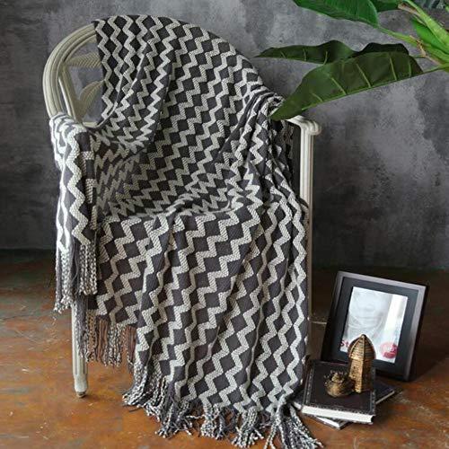 Rubyu Deken knuffeldeken, sprei met kwast, lunch sjaal deken, eenvoudige mode, voor televisie of nap op de stoel, bank en bed, voor mannen vrouwen