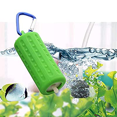 NEKOSUKI Aquarium Air Pumps, Mini USB Ultra Silent Aquarium Fish Tank Oxygen Air Pump with Air Stone and Silicone Tube, High Efficiency, Energy Saving, Plug and Play, 5V (Green)