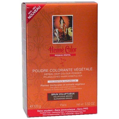 Poudre Coloration Végétale Brun Henné Color - Boite de 100 g
