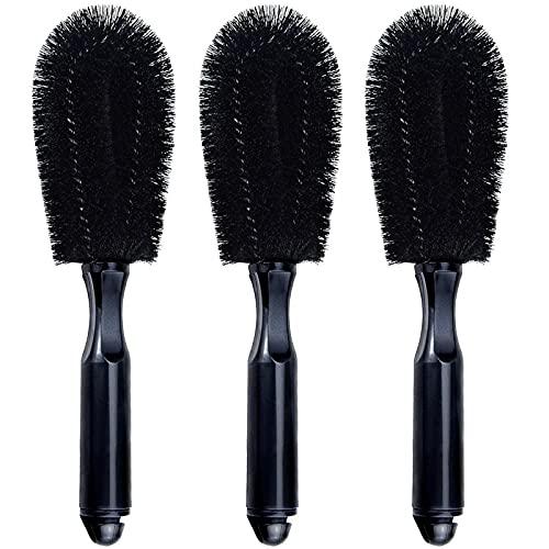 MOTZU 3 Pieces Wheel Brush, Automotive Rim Detailing Brush Soft Bristle, Car Wheel Brush, Rim Tire Detail Cleaning Brush, Multipurpose use for Wheels,...