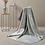sei Design Plaid Kassandra | Kuscheldecke | Wohndecke | Flauschig weich – hochwertige Verarbeitung, 150 x 200 cm (Melange Mint/Grey)