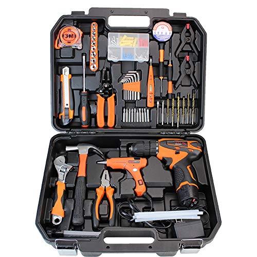 ZHANGXJ Destornilladores, Martillo, Alicates Taladro a Batería Kit de Herramientas Hogar y Oficina para Bricolaje Herramientas Mecánicas para Reparaciones Diarias
