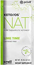 Pruvit Keto//OS NAT Caffeine Free, BHB Salts Ketogenic Supplement - Beta Hydroxybutyrates Exogenous Ketones for Fat Loss, ...