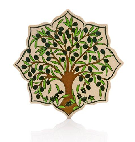 Keramikuntersetzer Olivenbaum mit Filzuntersatz I Original von MAISONARA I Funktional & Sinnlich I Keramik, Küchenhelfer, Dekoartikel, Untersetzer, Stern, Baum