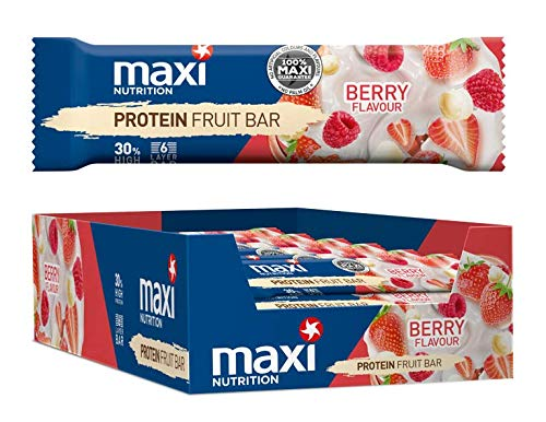 MaxiNutrition Protein Fruit Bar - Berry Flavour, 18 x 50g (900g)