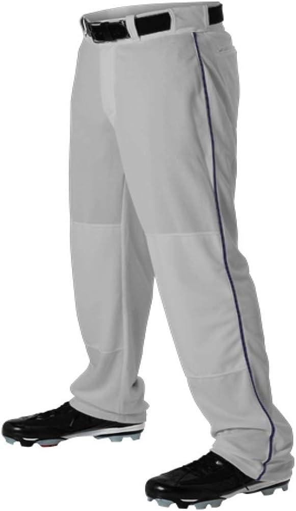 Teamwork Youth Baseball Pants Japan Maker New Grey w Pipe Bott Open safety X-Large Navy