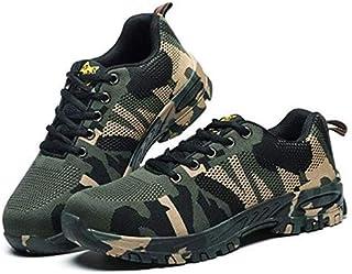 Steel Toe Work Shoes for Men Work Steel Toe Shoes Industrial Steel Toe Shoes for Women and Men Camo Steel-Toe Safety Sport Shoes Lightweight Industrial Construction Shoe EU 43