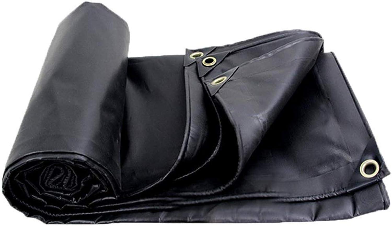 Tarp MultiPurpose Tarpaulin in Black  Heavy Duty Waterproof Shed Cloth, AntiSun Shade Tarps with Grommets  450g m2