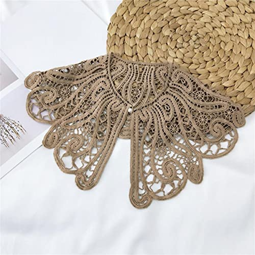2021 nuevo cuello falso chal flor de encaje de ganchillo collares falsos camisa mujer cuello desmontable media camisa cuello falso chal bufanda-04