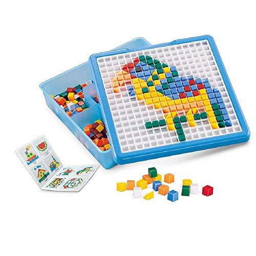 490 St. Kinder Mosaik Kits Mosaik Stecker Kunst mosaik steckspiel set Lernspielzeug Pädagogisch Spielzeug für Junge Mädchen Geschenk (Mosaik)