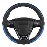 GGOII Couvre Volant Bascule Roue Durabilité Sécurité/Universel Automobile Eco Rubber Colonne De Direction Automatique (Noir Rouge)Bleu
