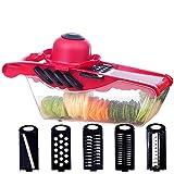 XKMY Ralladores para cocina cortador de verduras picadora de frutas y patatas pelador de zanahoria, mandolina rebanadora de utensilios de cocina y accesorios (color: A4)