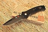 Al Mar S2KB Sere 2000 Folding Knife, Black Blade