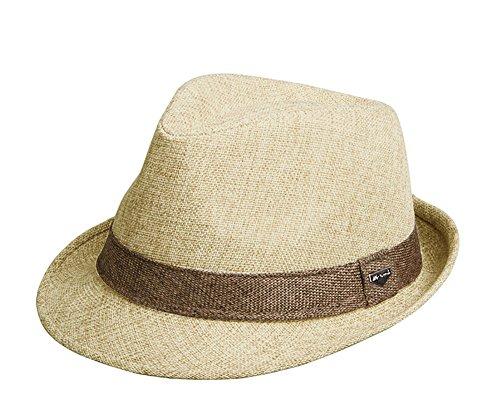 hellomiko Männer Hut Sonnenhut Strohhut Panama Style Sommer zusammenklappbar Strand Sun Jazz Cap Damen Strand Hut