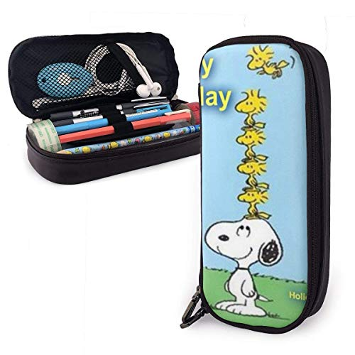 snoo-py Guten Morgen allerseits! Big Capacity Pencil Case Ledertasche Caseery Bag Zipper Pouch Pencil Holder
