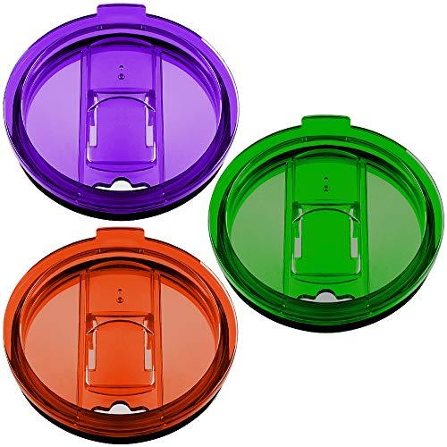 20oz Tumbler Deckel Set von 3 fit für Yeti Rambler, Trail, Rtic und vieles mehr, Maxin Spill Proof und Splash resistent Deckel Covers