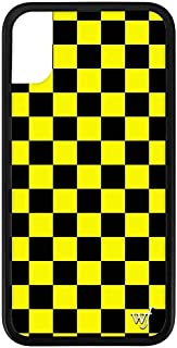 Wildflower Limited Edition iPhone Case for iPhone X and XS (Yellow Checkers)