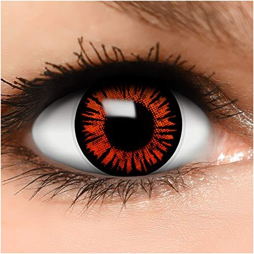 Farbige Kontaktlinsen Twilight in braun + Behälter - Top Linsenfinder Markenqualität, 1Paar (2 Stück)