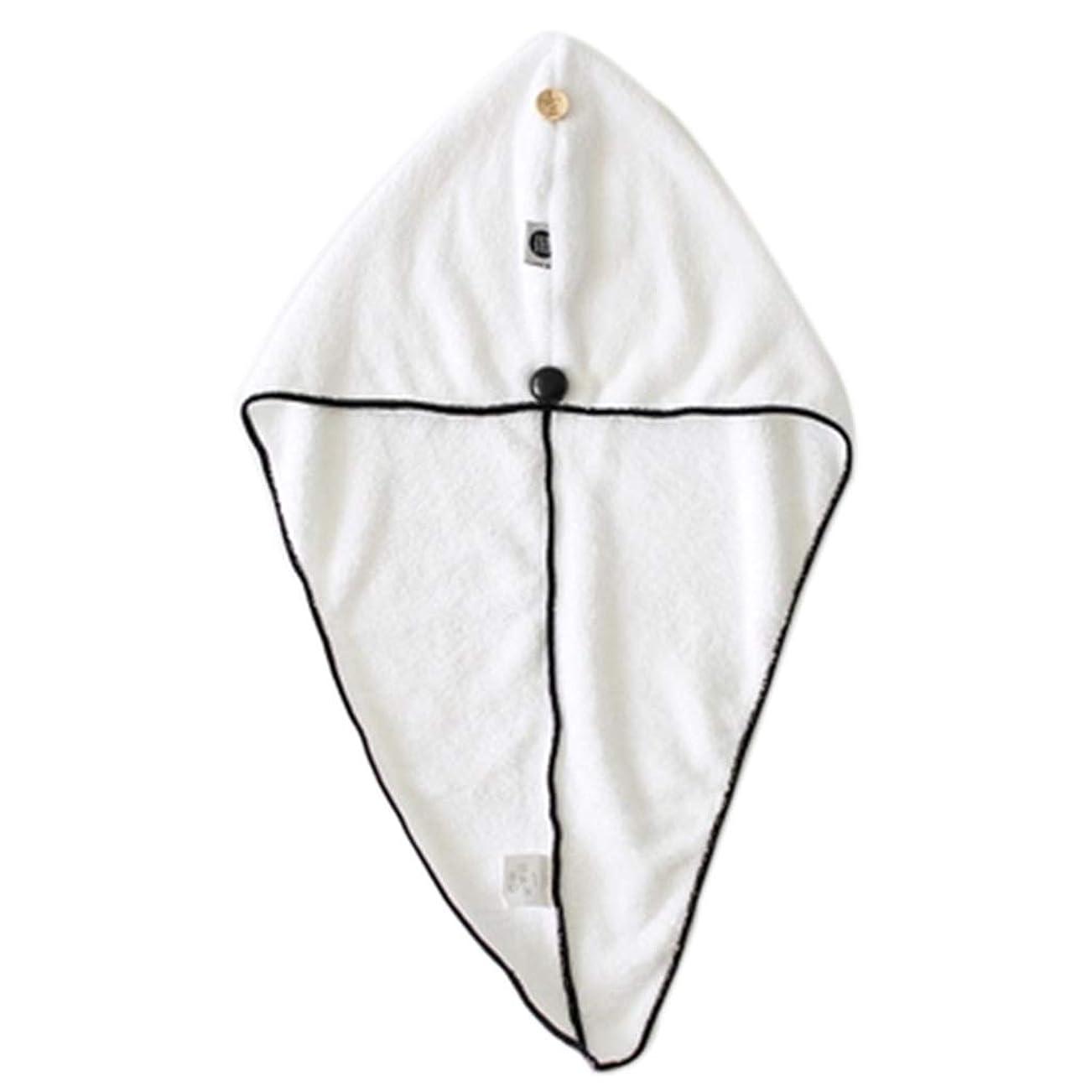 釈義フェローシップ軍団帽子厚い乾いたヘアキャップ超吸収性シャワーキャップボタン固定大人厚い吸収性シャワーキャップ乾いた髪アーティファクト速乾性フード (Color : WHITE, Size : 25*65CM)