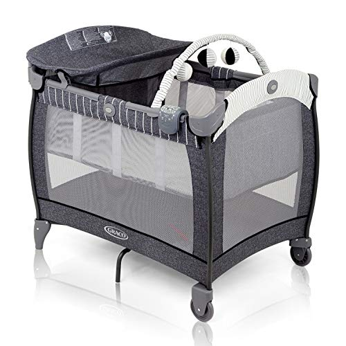 Graco Contour Electra Travel Cot with Integrated Changing Table, Night...