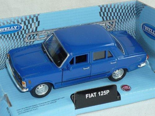 Welly FIAT 125p 125 P Blau Limousine 1967-1972 Polski FIAT Ca 1/43 1/36-1/46 Modellauto Modell Auto