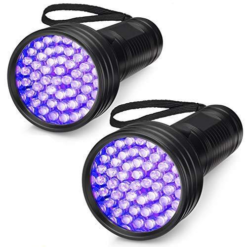 2-Pack UV Flashlight Black Light, 51 LED 395 nm Ultraviolet Blacklight Flashlight Perfect Pet Urine Detector for Dog and Cat Urine, Dry Pet Stains, Bed Bug, Matching with Pet Odor Eliminator